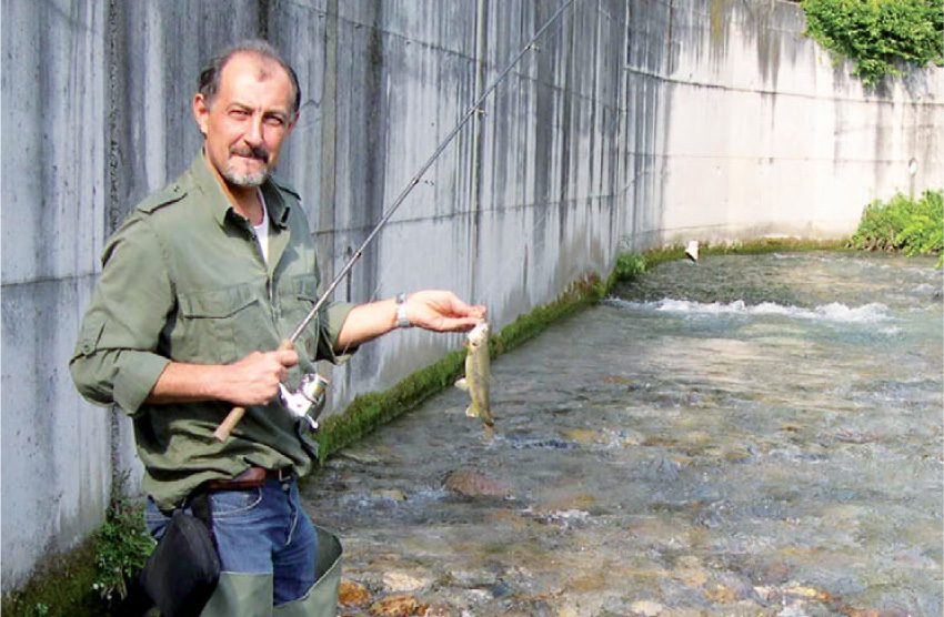 Urban fishing a Lecco